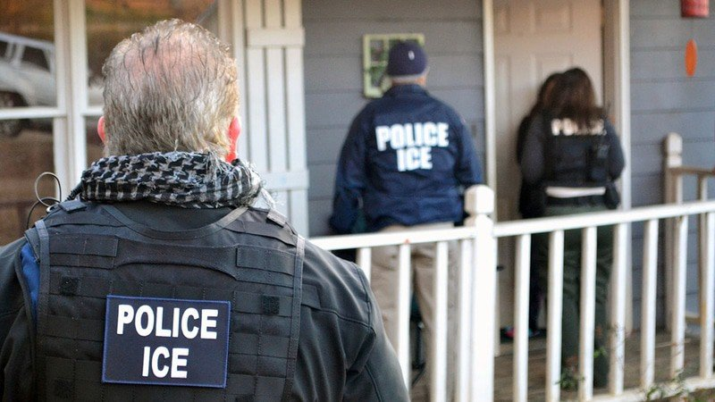 ICE Agents at door